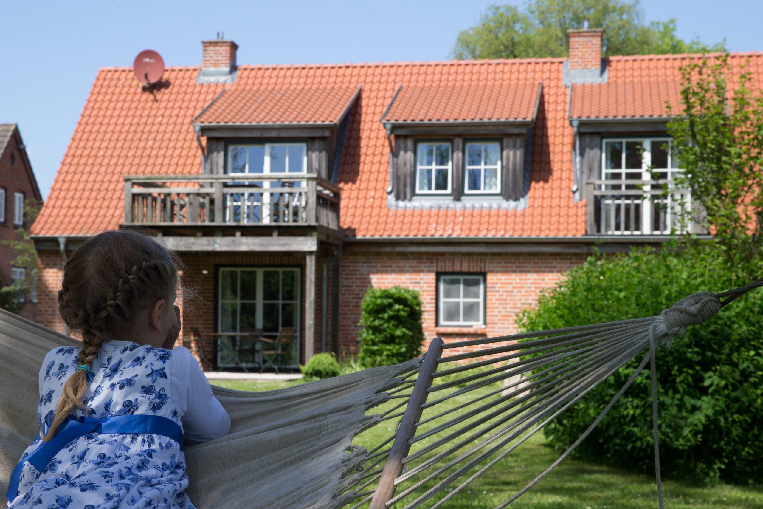 Gut Friederikenhof - schöner Blick auf die Ferienwohnungen
