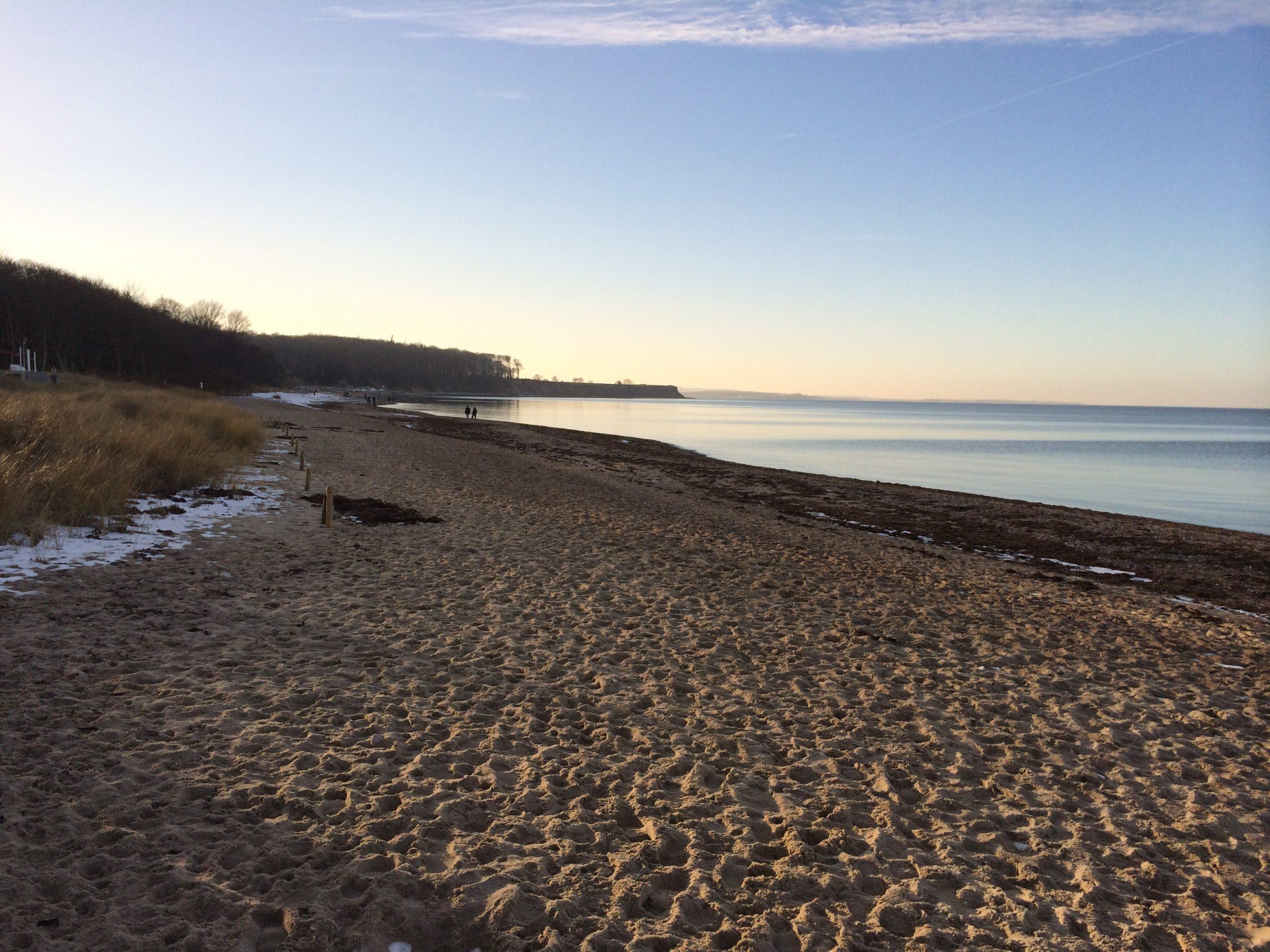Gut Friederikenhof - der Strand im Winter